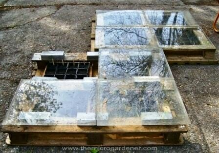 Pallet seed raising greenhouse.